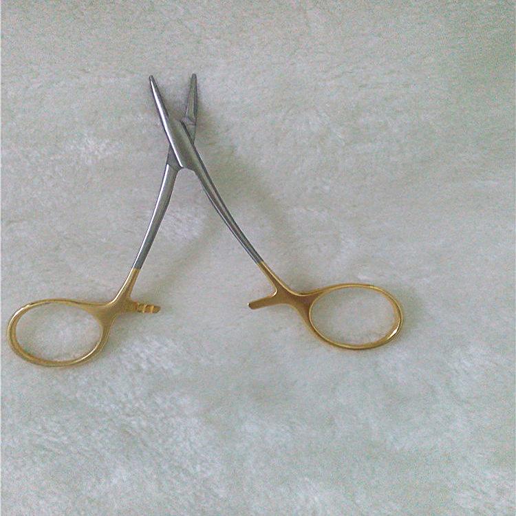不锈钢医用手术钳子真空电镀间金色 广东PVD真空电镀加工厂