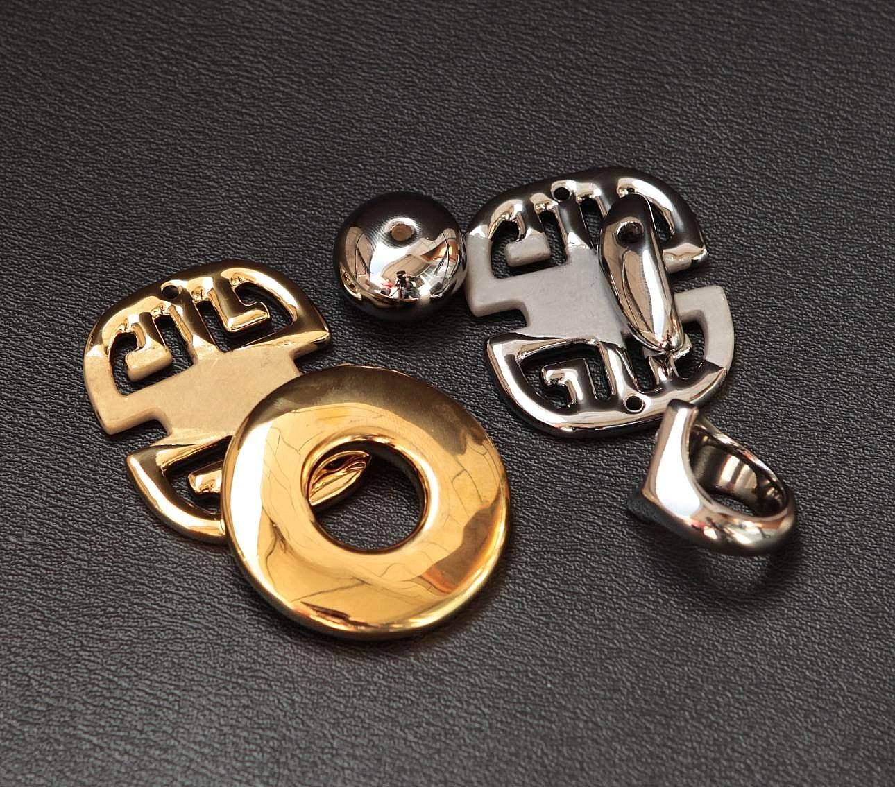 东莞真空PVD电镀厂加工真空电镀IP金色 五金配件真空镀膜